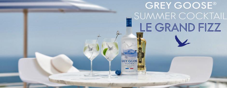 Grey Goose Summer Cocktail - Le Grand Fizz