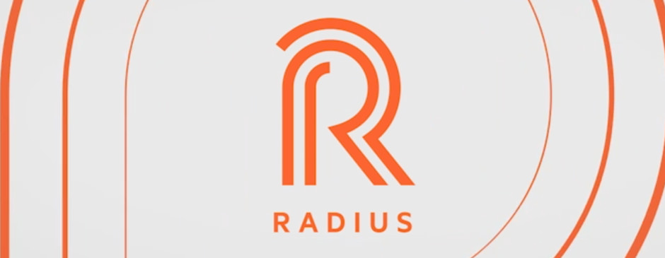 The Logo for NBC Universal's Radius Premium Fitness Brand for Broadcast, Digital Devices and Streaming